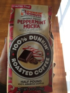This stuff goes great in my final bag of DD peppermint mocha coffee!